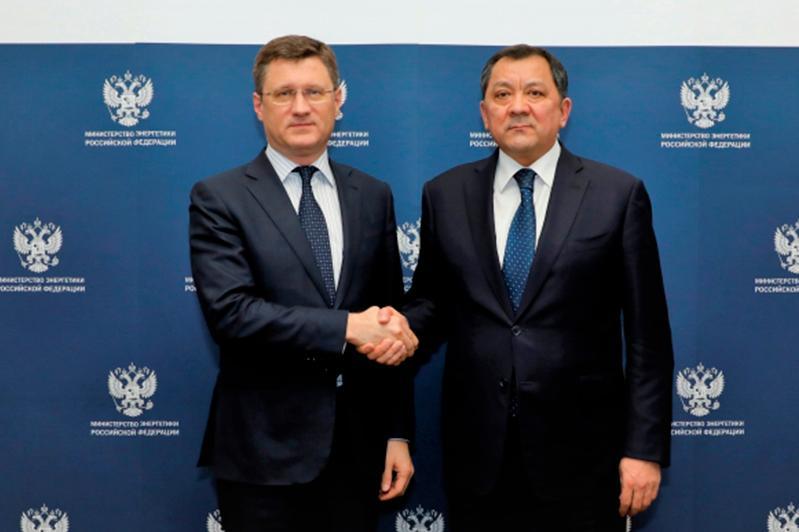 Нурлан Ногаев встретился с министром энергетики РФ Александром Новаком