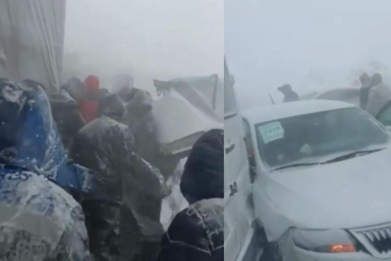 «Қарағанды – Осакаровка» тасжолында жаппай көлік апаты болды
