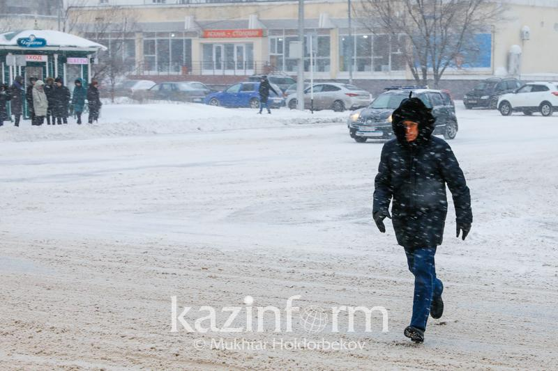 Precipitation and cold snap forecast in Kazakhstan at weekend