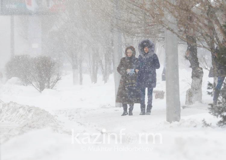 Неустойчивый характер погоды прогнозируют в Казахстане 15 февраля