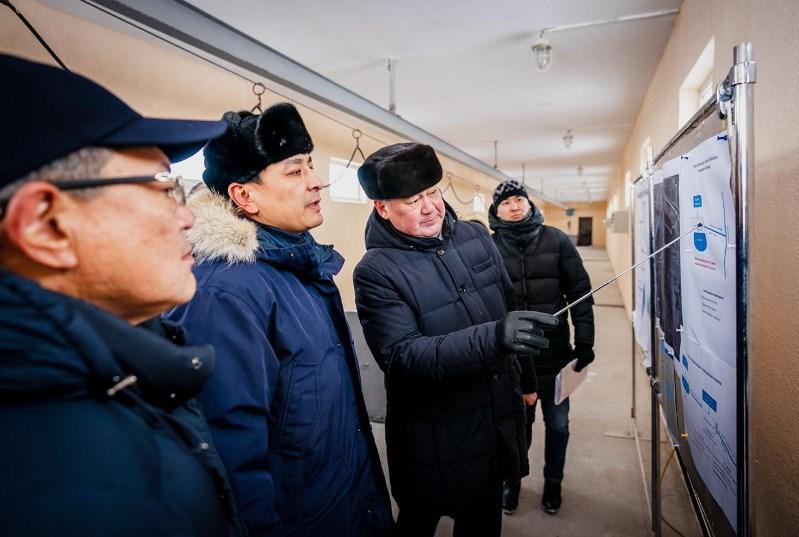 Алтай Кульгинов посетил контррегулятор, защищающий город от паводков