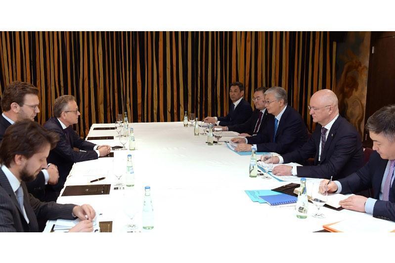 ҚР Президенті Германияның ірі компаниялары басшыларымен бірқатар кездесу өткізді