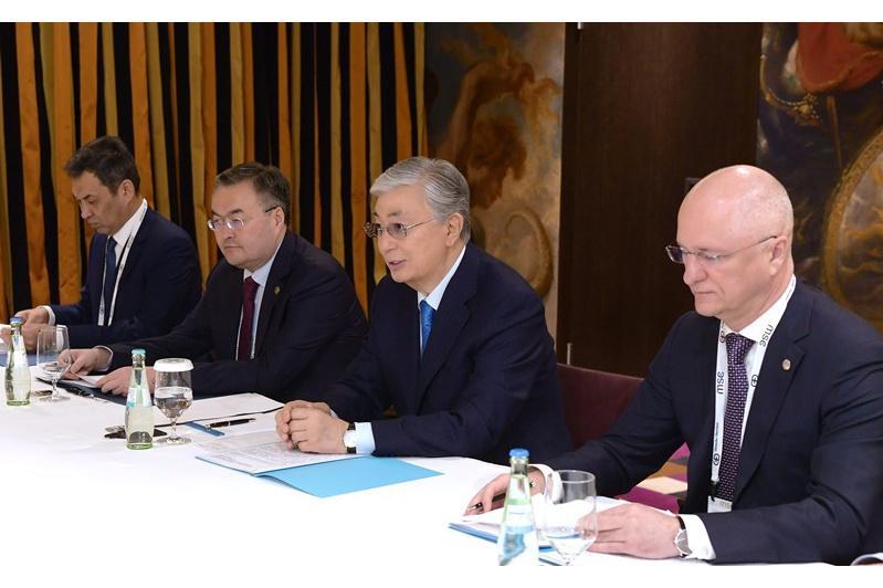 Kazakh President, BayWa AG CEO meet