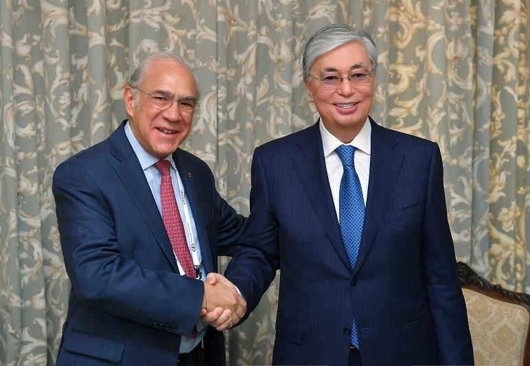 Касым-Жомарт Токаев встретился с Генеральным секретарем ОЭСР Хосе Анхелем Гурриа