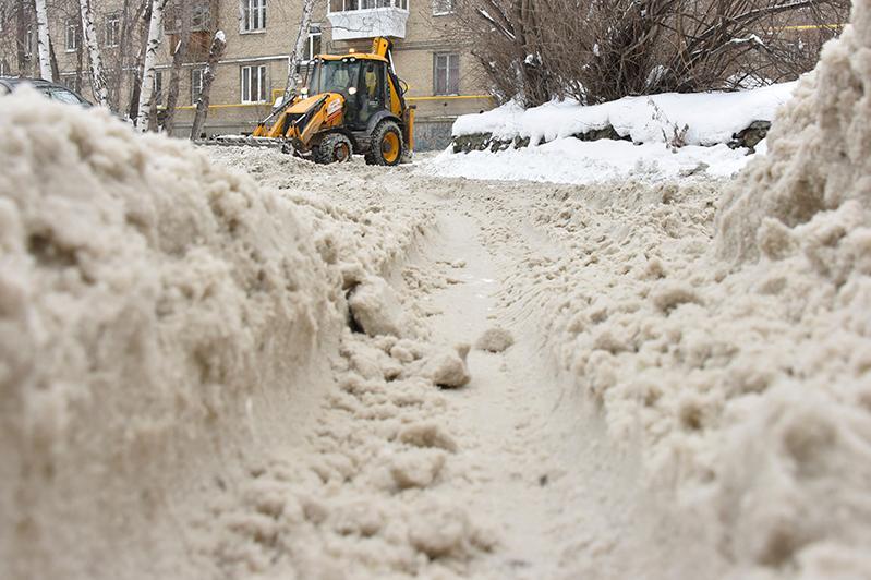 За некачественную уборку снега наказали подрядчиков в Петропавловске