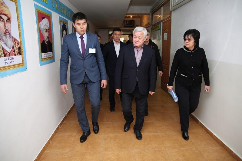 В Кордайский район совершил первую рабочую поездку аким Жамбылской области Бердибек Сапарбаев