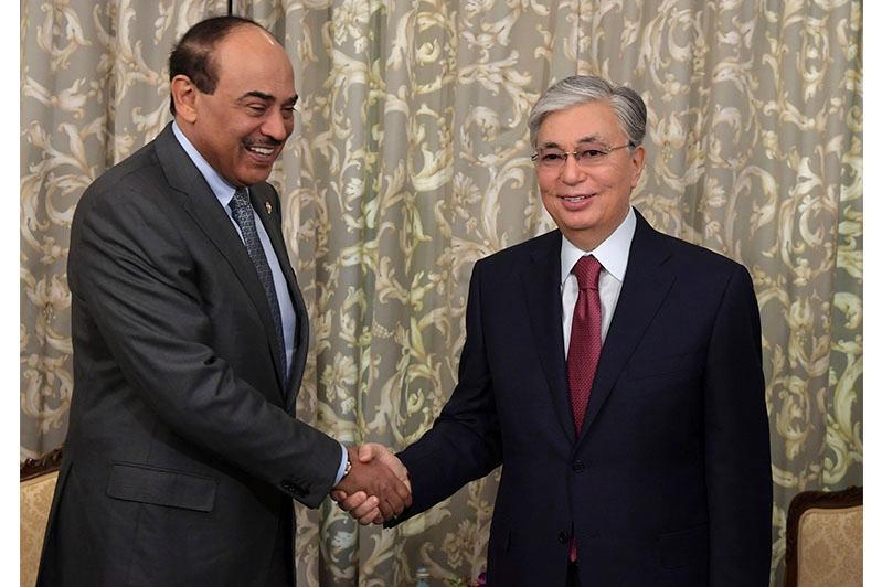 Президент РК провел встречу с Премьер-министром Кувейта