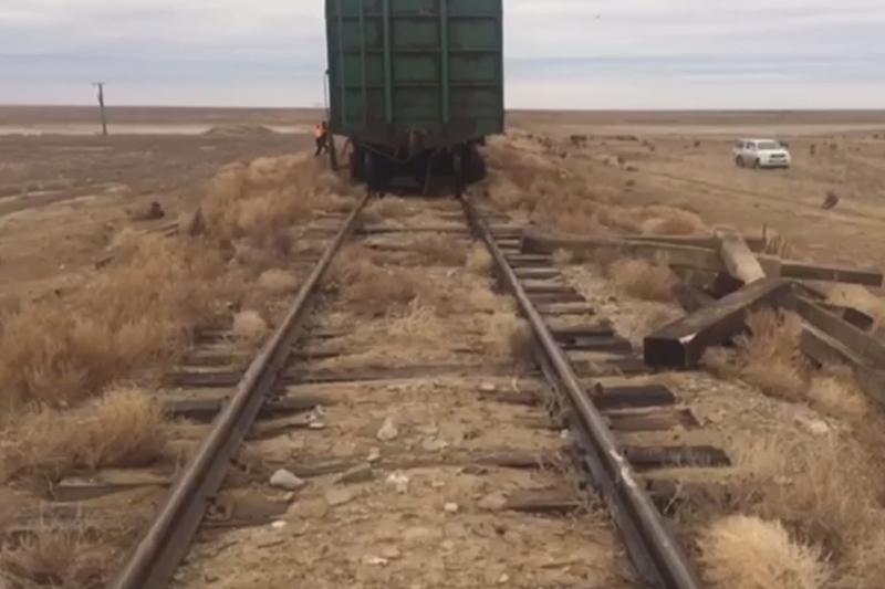 Атырау облысында бес вагон рельстен шығып кетті