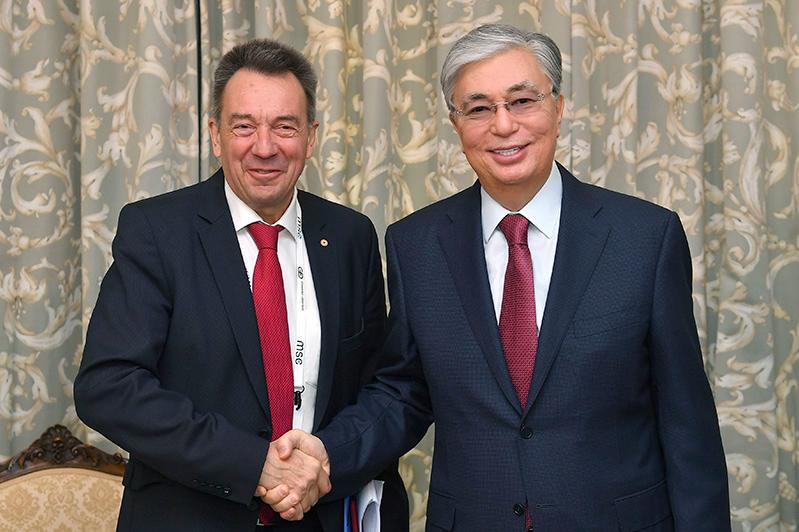 Kassym-Jomart Tokayev holds meetings with heads of WHO, ICRC