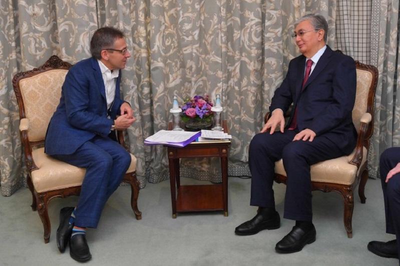 Kassym-Jomart Tokayev meets with Eurasia Group President Ian Bremmer