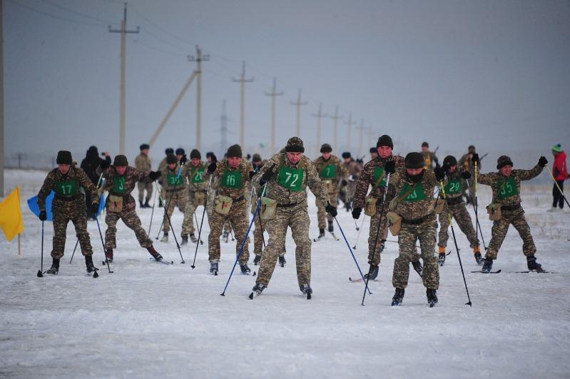 Семейде 300 әскери қызметші шаңғы жарысына қатысты