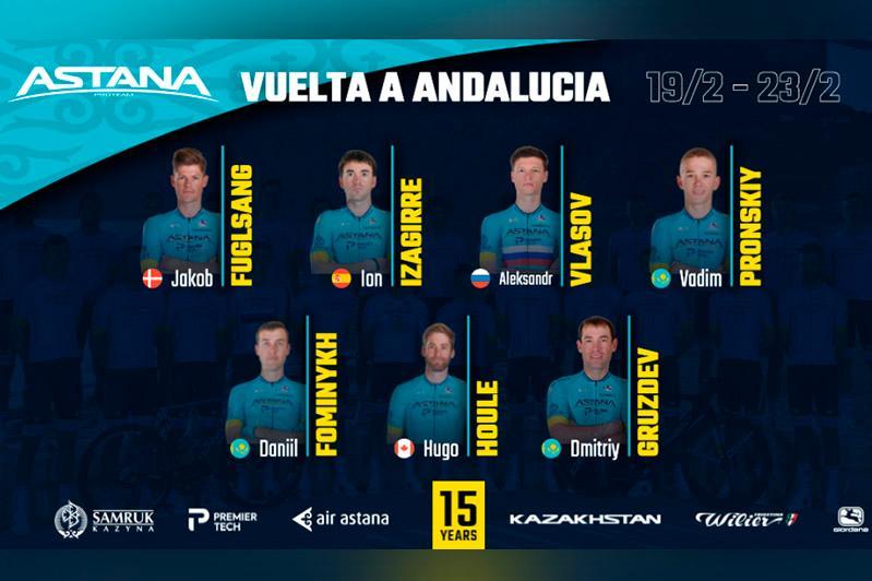 Vuelta a Andalucia 2020. Astana announces Team's roster