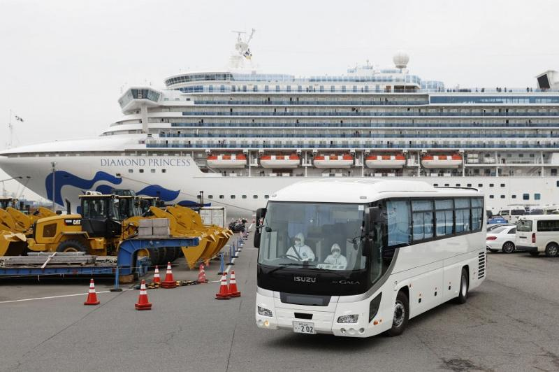 Number of infections on virus-hit ship in Japan up 70 to 355: gov't
