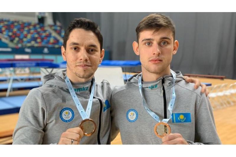 Kazakh duet wins bronze at Baku World Cup in Trampoline Gymnastics