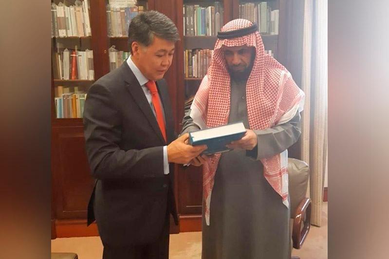 哈萨克斯坦大使会见哈萨克斯坦-沙特议会间友谊委员会主席