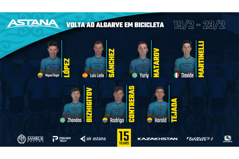 Volta ao Algarve em Bicicleta 2020. Astana announces its Team's roster