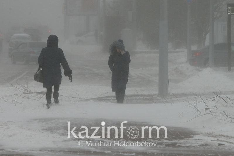 Blizzard to persist in 2 regions of Kazakhstan Feb 20