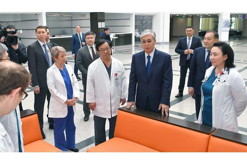ҚР Президенти Миллий илмий кардиохирургия марказига ташриф буюрди