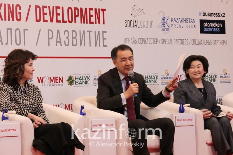 Бақытжан Сағынтаев әйелдерге жаңа ауданда бизнес ашуға кеңес берді