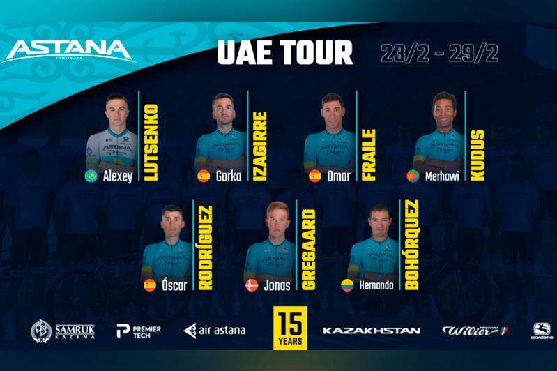Astana Pro Team announces its roster for UAE Tour 2020