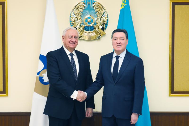 Премьер-Министр РК обсудил с председателем Коллегии ЕЭК актуальные вопросы развития ЕАЭС