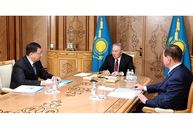 纳扎尔巴耶夫接见民族和睦大会副主席