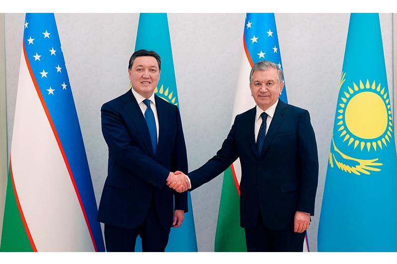 Асқар Мамин Өзбекстан Президентімен кездесті
