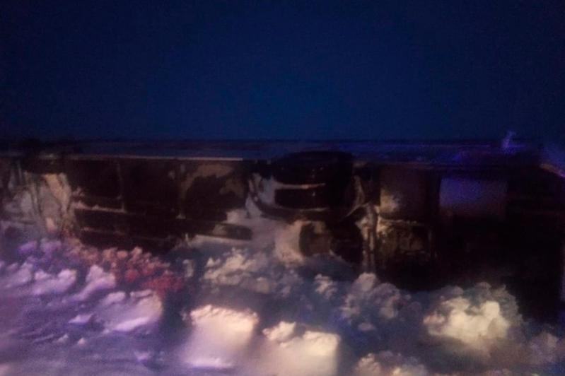 Bus with foreigners on board capsizes in Aktobe region