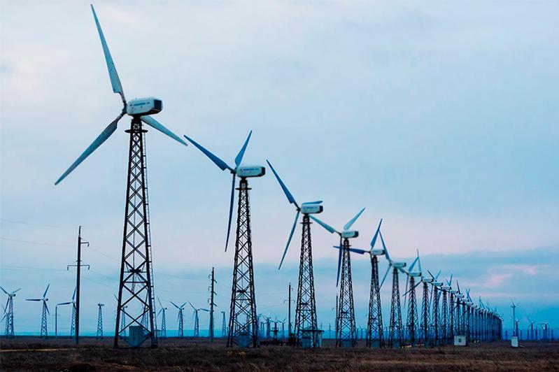 Крупная ветровая электростанция строится в Сарысуском районе Жамбылской области