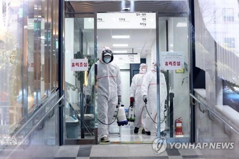 韩国新增334例新冠确诊病例 累计1595例