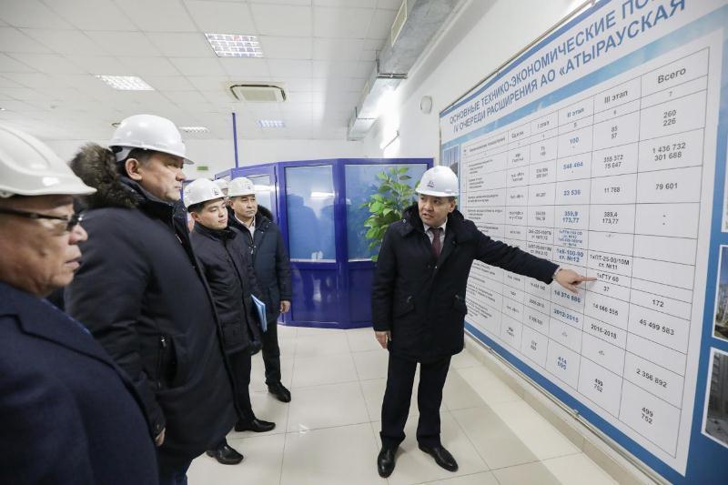 Министр энергетики РК посетил энергопредприятия Атырауской области