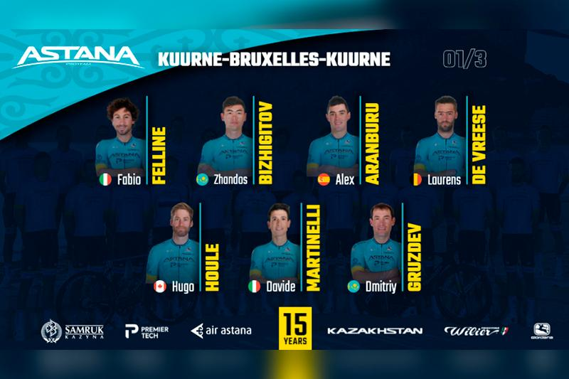 Astana Pro Team to vie for top honors at Kuurne-Bruxelles-Kuurne