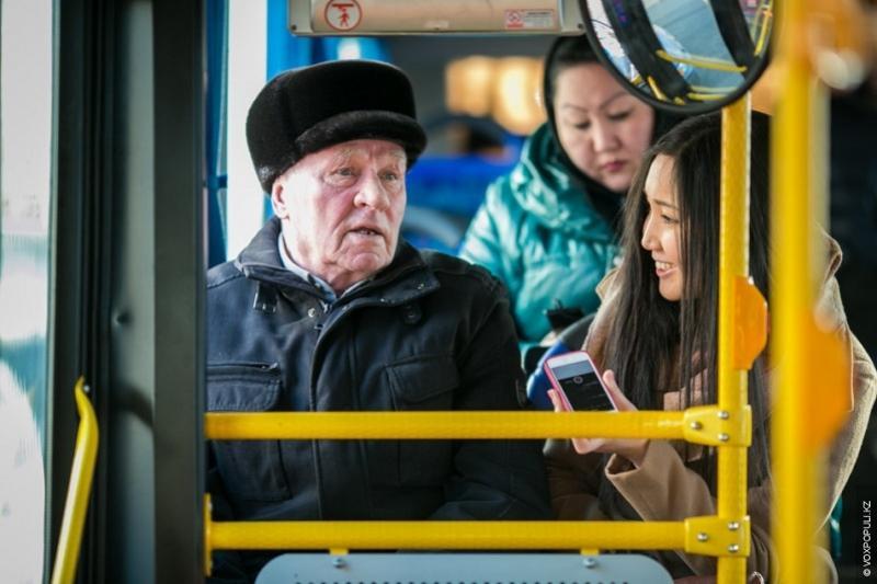 Бесплатный проезд для пенсионеров организовали в День благодарности в Петропавловске