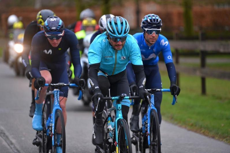 Omloop Het Nieuwsblad Elite. Astana's Boaro in the breakaway of the day