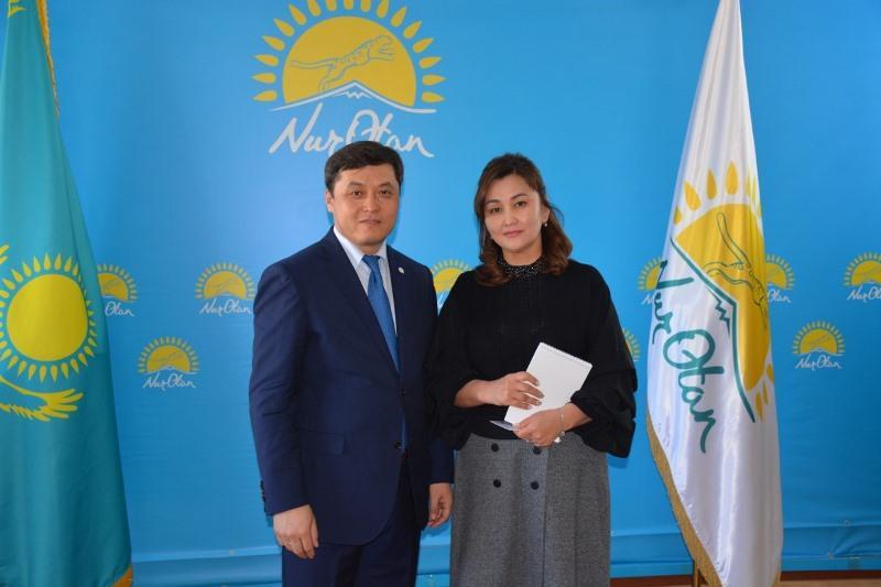 «Nur Otan» қатарына Түркістан облысының белсенді азаматтары қабылданды