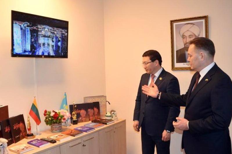 Центр имени аль-Фараби открыли в столице Литвы