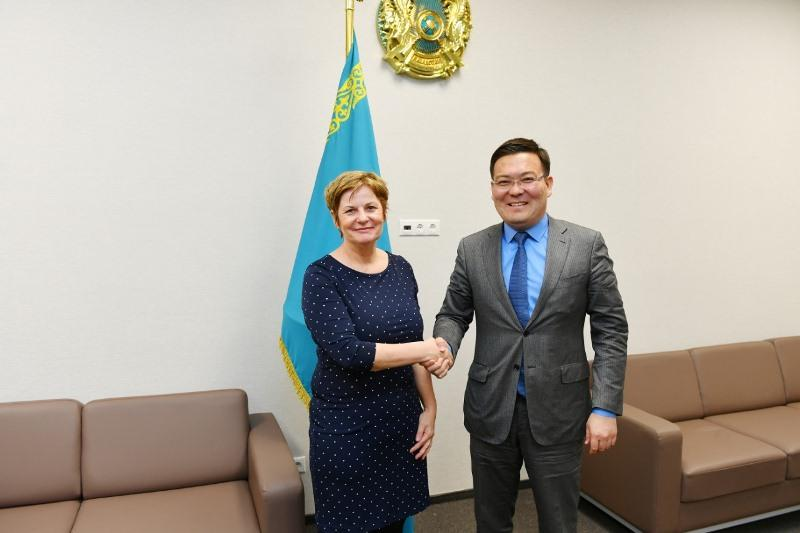 Germany's  Consul General  Christiana Markert  visits Turkestan