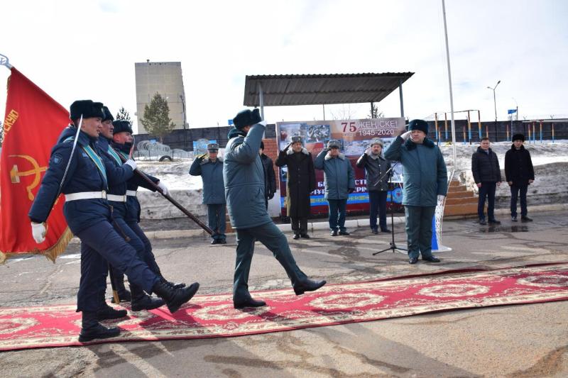 Копия боевого знамени Панфиловской дивизии прибыла в Акмолинскую область