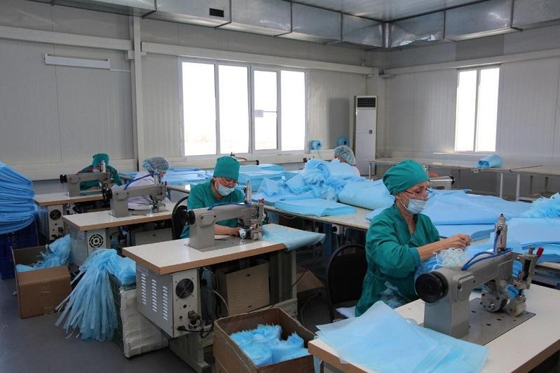 Жамбылдағы зауыт маска шығаруды тәулігіне 20 мыңнан 70 мыңға жеткізді