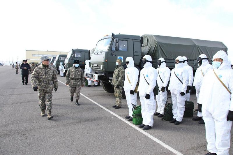 Военнослужащие Вооруженных сил Казахстана заступили на усиление блок-постов
