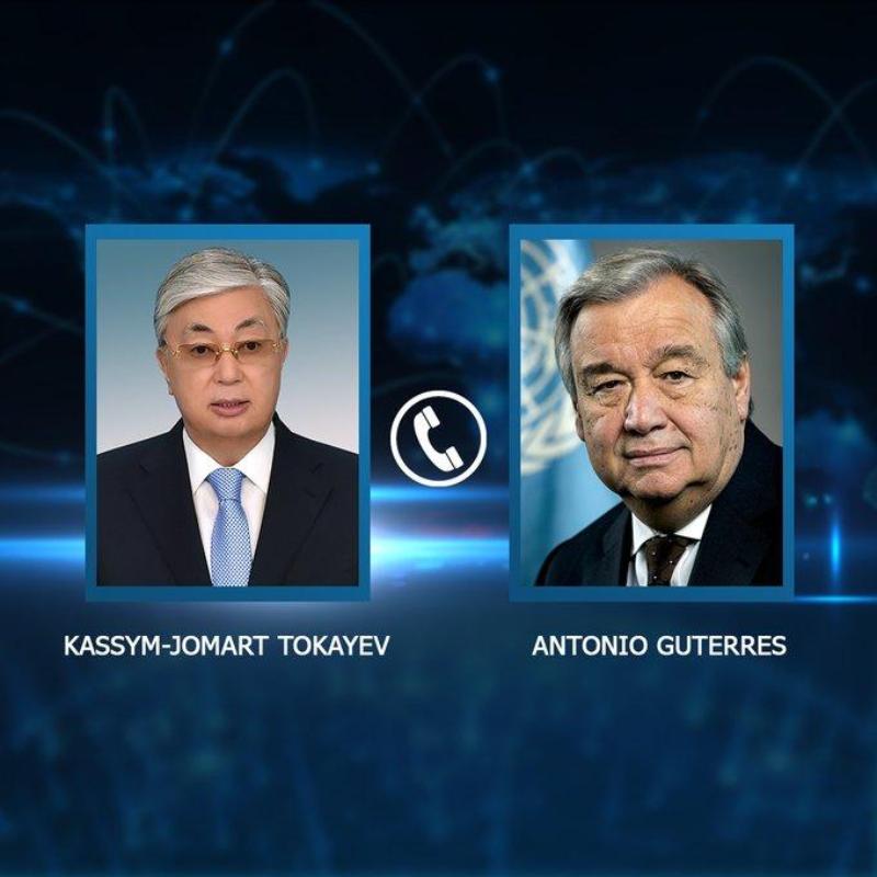 Глава государства провел телефонный разговор с Генсеком ООН Антониу Гутерришем