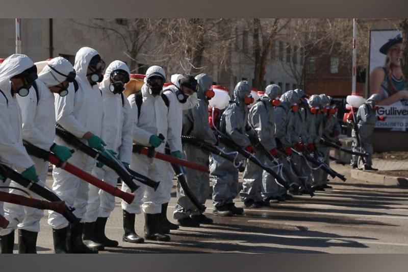 В Нур-Султане проводят масштабную дезинфекцию улиц