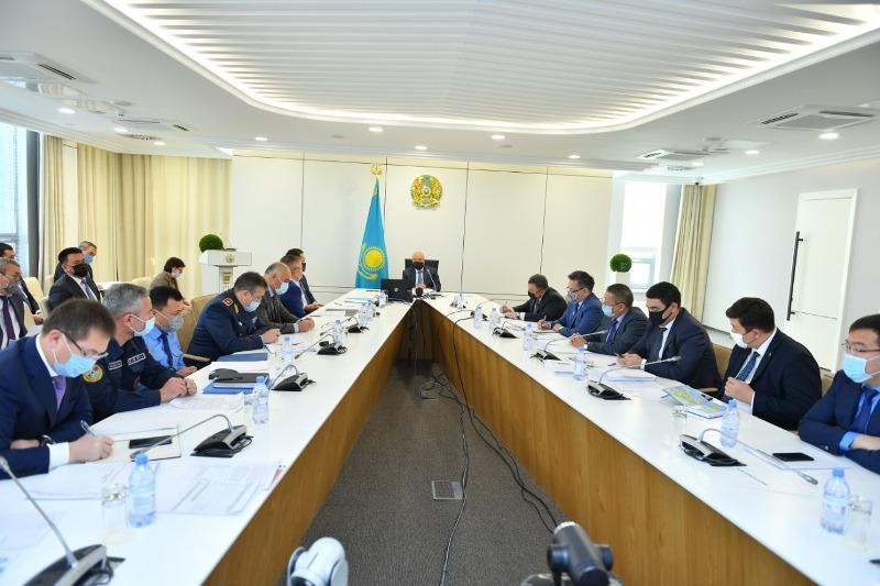 Аким Туркестанской области поручил усилить меры по предотвращению распространения коронавируса