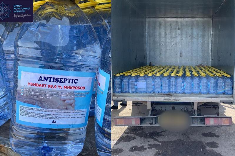 Незаконную реализацию масок и антисептиков выявили в Нур-Султане и Атырау