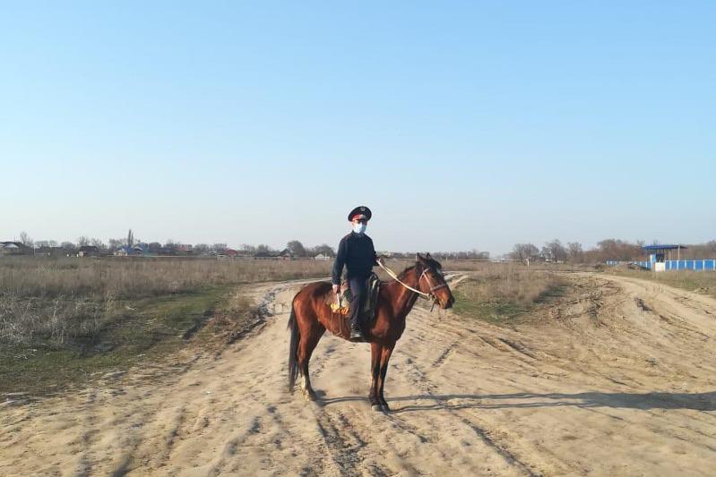 Алматыдағы кейбір блокпостты  атты патруль бақылайды