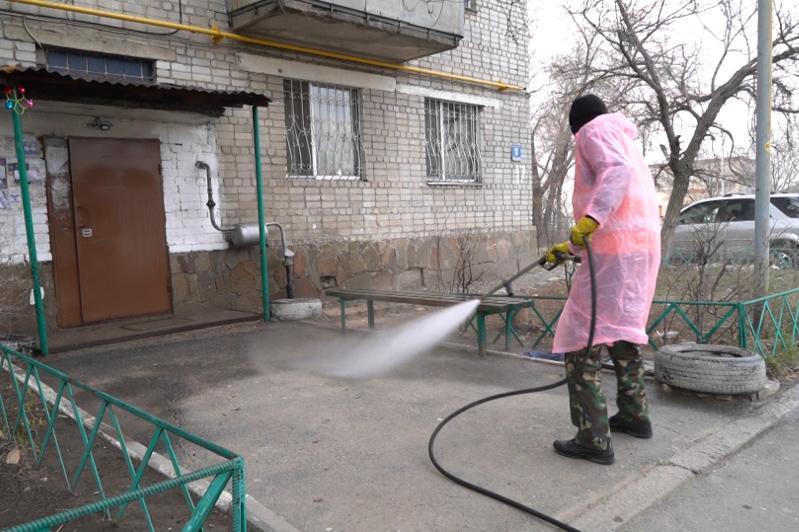 Талдықорған қаласында дезинфекциялау жұмыстары жүргізілді