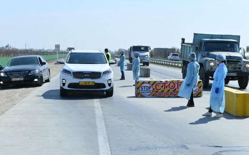 Видеокамерами оснастили блокпосты на въездах в Туркестан