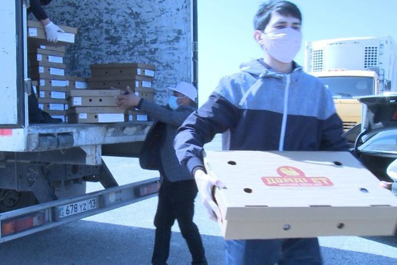 #Бізбіргеміз: на 2 млн тенге раздал мясную продукцию туркестанский бизнесмен