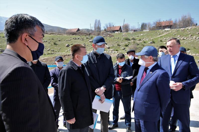 В Жамбылской области запустили реконструированный Аспаринский гидроузел