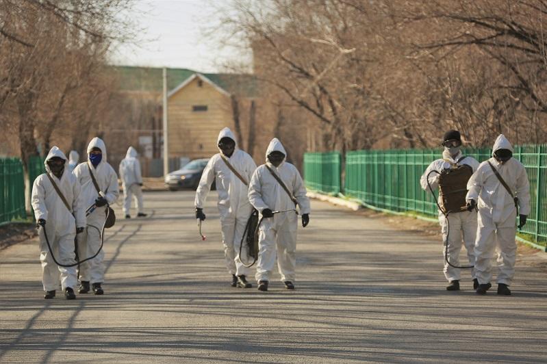 Қазақстанның тоғыз қаласында биологиялық қорғаныс бөлімшелері дезинфекциялады